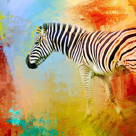 Jai Johnson - Colorful Expressions Zebra