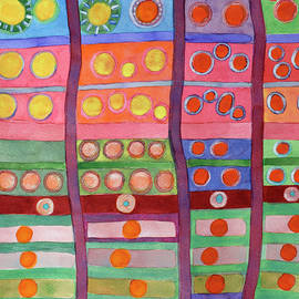 Heidi Capitaine - Colorful Grid Pattern with Numerous Circles
