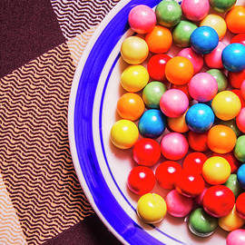 Colorful gumballs on plate - Jorgo Photography - Wall Art Gallery