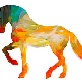 Sheela Ajith - Colorful Horse