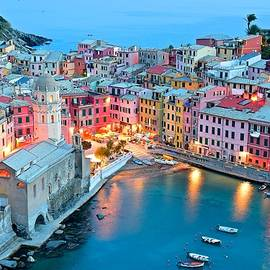 Frozen in Time Fine Art Photography - Colorful Lights of Vernazza
