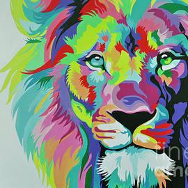 Maja Sokolowska - Colorful lion painting