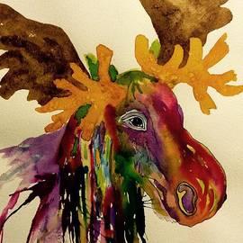 Ellen Levinson - Colorful Moose Head - Jewel tone