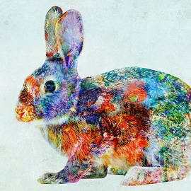 Olga Hamilton - Colorful Rabbit Art