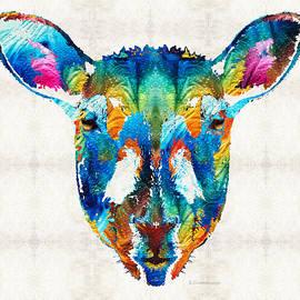 Sharon Cummings - Colorful Sheep Art - Shear Color - By Sharon Cummings