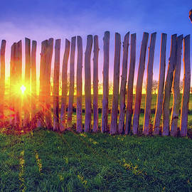Jennifer Rondinelli Reilly - Fine Art Photography - Colorful Sunset and Stockade at Aztalan State Park #7