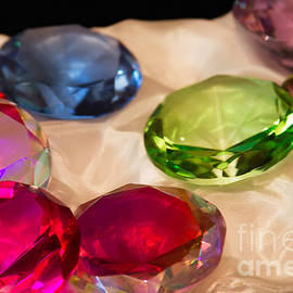 Sharon Mau - Colourful Glass Jewels on Satin
