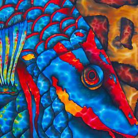 Daniel Jean-Baptiste - Colourful  Parrotfish - Brain Coral