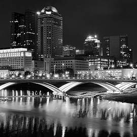 Frozen in Time Fine Art Photography - Columbus Black Night
