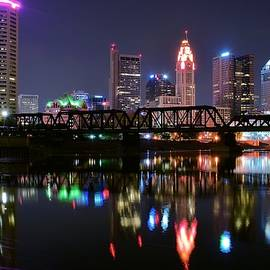 Frozen in Time Fine Art Photography - Columbus Ohio Reflecting in the Scioto River