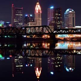 Frozen in Time Fine Art Photography - Columbus Ohio Reflecting on the River