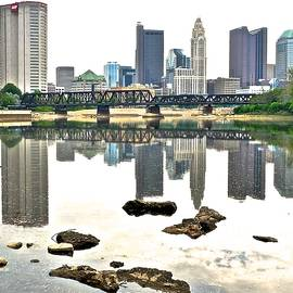 Frozen in Time Fine Art Photography - Columbus Reflecting in the Scioto