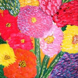 Carmela Maglasang - Complementary Bouquet of Impressionistic Flowers Series 1