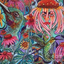 Linda Markwardt - Coneflower and Hummingbird