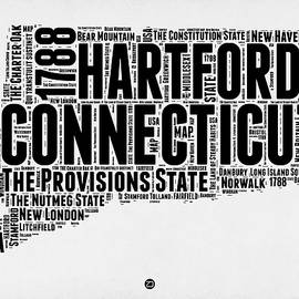 Connecticut Word Cloud Map 2 - Naxart Studio