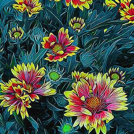 Ernie Echols - Contrasting Colors Digital Art