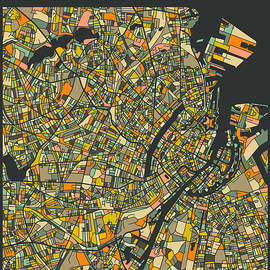 COPENHAGEN CITY MAP - Jazzberry Blue