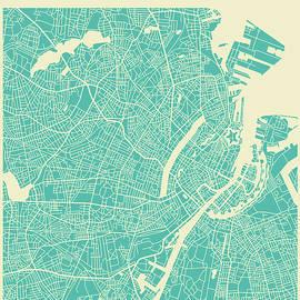 COPENHAGEN STREET MAP - Jazzberry Blue
