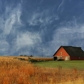 Kathy Krause - Corn Fields Surround Red Barn