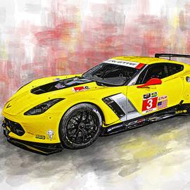 Erin Hissong - Corvette C7.R Watercolor Print