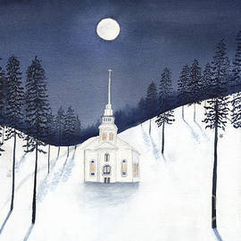 Conni Schaftenaar - Country Church in Moonlight 2, Silent Night