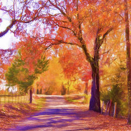 Barry Jones - Country Road - Fall Landscape