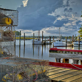 Williams-Cairns Photography LLC - Crabpots and Fishing Boats