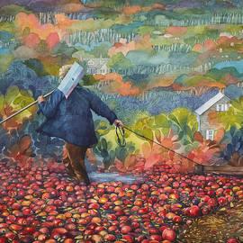 Ezartesa Art - Cranberry Harvest Painting