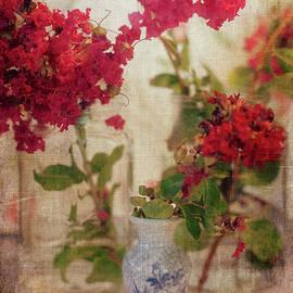 Toni Hopper - Crapemyrtles and little blue vase