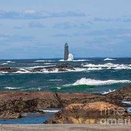Brian MacLean - Crashing Waves on Minot Lighthouse