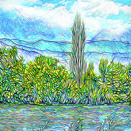 Joel Bruce Wallach - Crystal Blue Day - Lake And Mountains In Boulder County Colorado