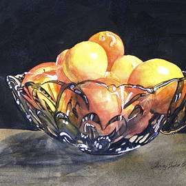 Shirley Sykes Bracken - Crystal Bowl with Fruit