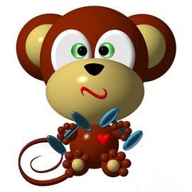 Rose Santuci-Sofranko - Cute Monkey Lifting Weights