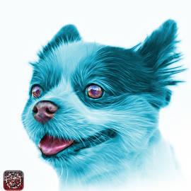 Cyan Pomeranian dog art 4584 - WB