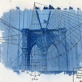 Jane Linders - Cyanotype Brooklyn Bridge