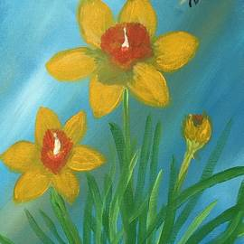 Christina Schott - Daffodils With Bee