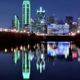 Frozen in Time Fine Art Photography - Dallas Dark Blue Night