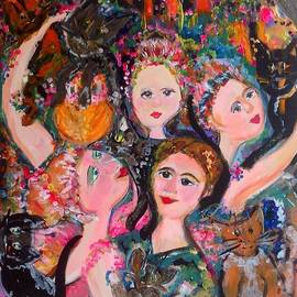 Judith Desrosiers - Dancers With Cats