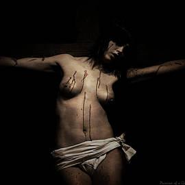 Ramon Martinez - Dark portrait of a female Jesus III