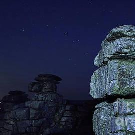 Sebastien Coell - Dartmoor Great Staple Tor at night