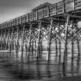 Reid Callaway - Dawns Reflection Folly Beach Pier Charleston South Carolina
