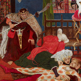 Death of Sir Tristram - Ford Madox Brown