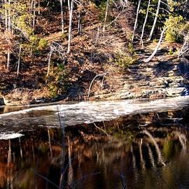 Karen  Majkrzak - December Reflections On Wisconsin River