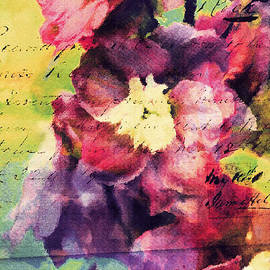 Tina LeCour - Delphinium Flower Print