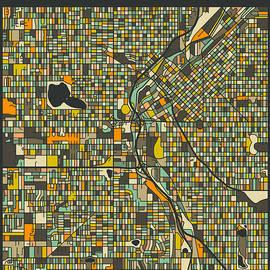 DENVER CITY MAP - Jazzberry Blue