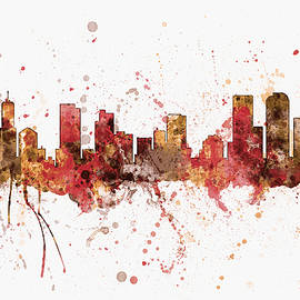 Denver Colorado Skyline Cityscape - Michael Tompsett