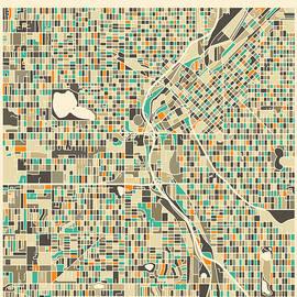 DENVER MAP 2 - Jazzberry Blue