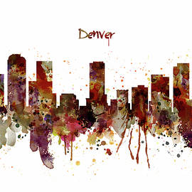 Marian Voicu - Denver Skyline Silhouette