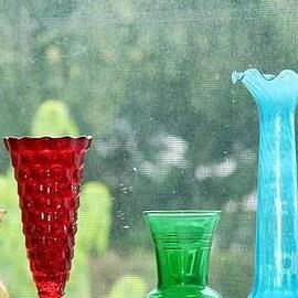Diann Fisher - Depression Glass Vases