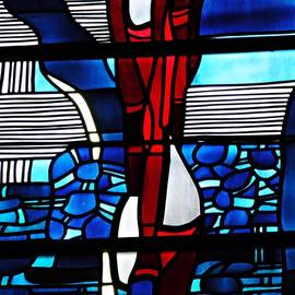 Sarah Loft - Detail of a Stained Glass Window at St Boniface Church